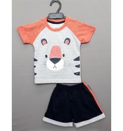 Buy Krunchy kids top tee with shorts - Grey Online in India