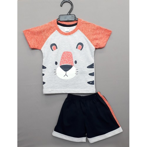 Krunchy kids top tee with shorts - Grey