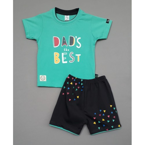 Little Mee kids top tee with shorts Printed - Dad the Best