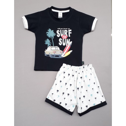 Little Mee kids top tee with shorts Printed - Surf The Sun