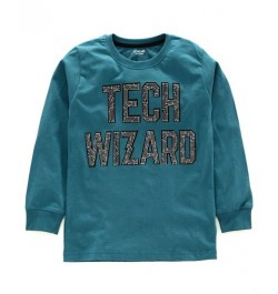 Doreme Full Sleeves T-Shirt Text Print - ( Tech Wizard - Blue)