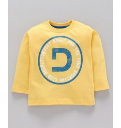 Doreme Full Sleeves Tee Text Print - ( D - Yellow)