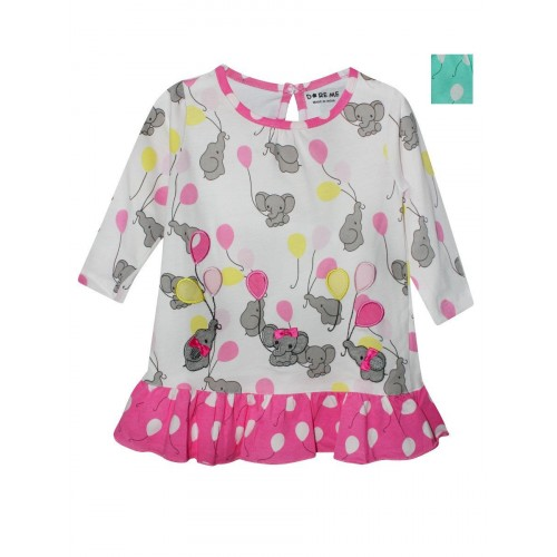 Doreme Printed Frock - Baby Elephant