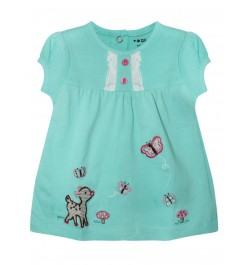Doreme Printed Frock - Sheep - Light Green