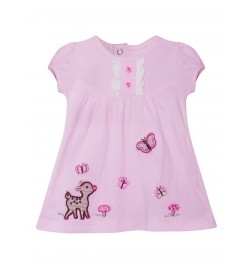 Doreme Printed Frock - Sheep - Pink