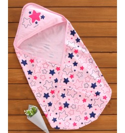 Buy Doreme Hooded Swaddle Wrapper Star Print - Pink Online in India
