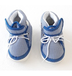 Duck Baby Shoes for Infants - Blue-Cheks