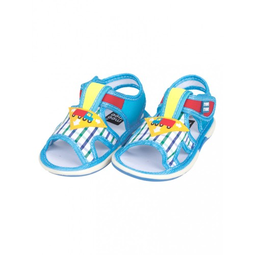 Mee Mee First Walk Baby Sandals with Chu Chu Sound (Checkered Print)