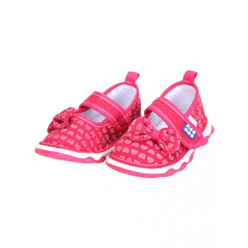 Mee Mee First Walk Baby Shoes with Chu Chu Sound (Ribbon Bow)