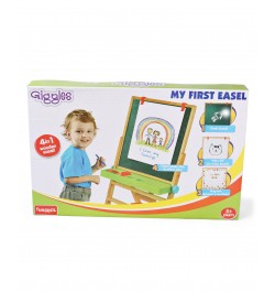 Giggles 4 in 1 My First Easel - Brown
