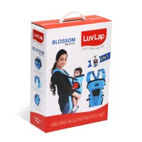 Luvlap Blossom Baby Carrier – Blue + Black + Grey