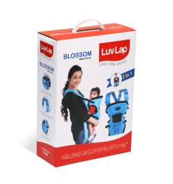 Buy Luvlap Blossom Baby Carrier – Blue + Black + Grey Online in India