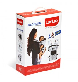 Buy Luvlap Blossom Baby Carrier – Grey + Black Online in India
