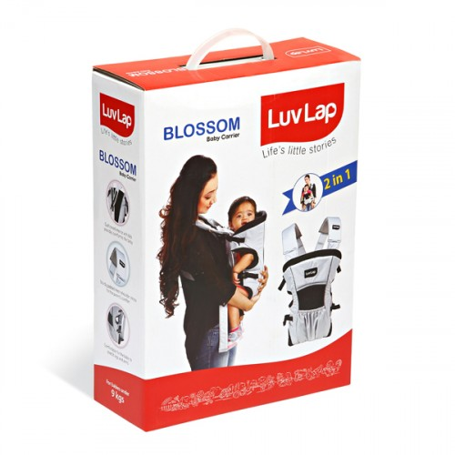 Luvlap Blossom Baby Carrier – Grey + Black