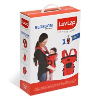 Luvlap Blossom Baby Carrier – Red + Black + Grey