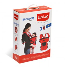 Buy Luvlap Blossom Baby Carrier – Red + Black + Grey Online in India