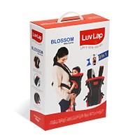 Luvlap Blossom Baby Carrier – Red + Black