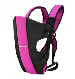 Buy Luvlap Sunshine Baby Carrier – Black & Pink Online in India