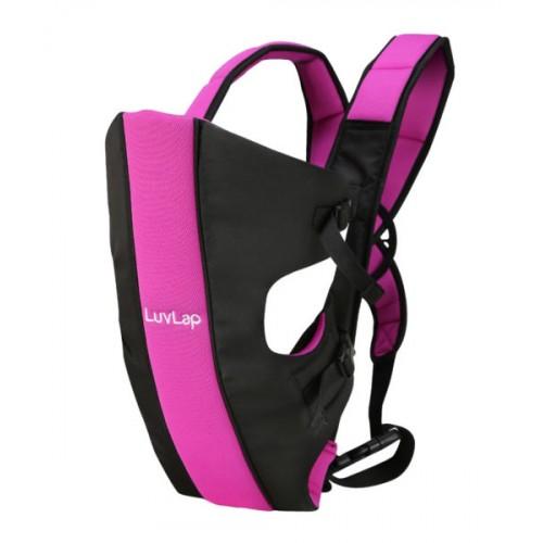Luvlap Sunshine Baby Carrier – Black & Pink