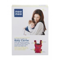 Mee Mee Cuddle Up Baby Carrier with Advanced Support (Red)