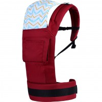 R for Rabbit Hug Me Elite - The Ergonomic Baby Carrier (Maroon)