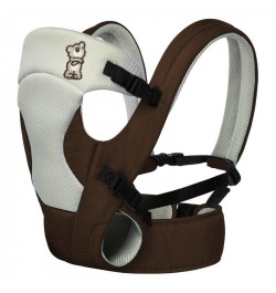 R for Rabbit New Cuddle Snuggle- Comfortable Baby Carrier (Brown Grey)