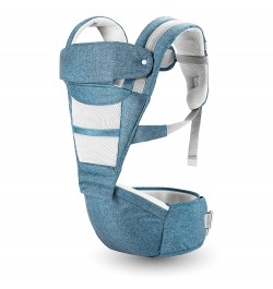 Buy R for Rabbit Upsy Daisy Smart Ergonomic Hip Seat Baby Carrier for New Parents (Blue) Online in India