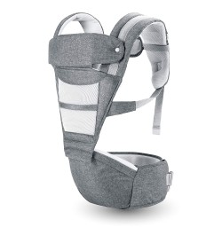 R for Rabbit Upsy Daisy Smart Ergonomic Hip Seat Baby Carrier for New Parents (Grey)
