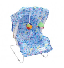 Buy Pioneer 10 in 1 Carry Cot Cum Bouncer - Blue Online in India