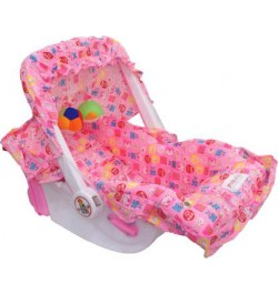 Buy Pioneer 10 in 1 Carry Cot Cum Bouncer - Pink Online in India