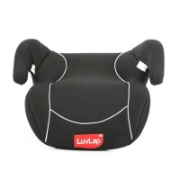 Luvlap Baby Backless Booster Car Seat – Black