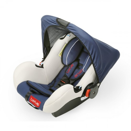 Luvlap Infant Baby Car Seat Cum Carry Cot And Rocker – Dark Blue