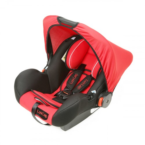 Luvlap Infant Baby Car Seat Cum Carry Cot And Rocker – Red