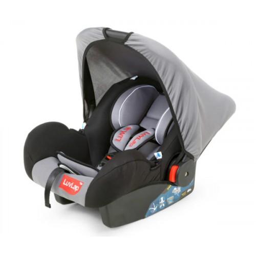 Luvlap Infant Baby Car Seat Cum Carry Cot – Grey