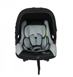 R for Rabbit's Picaboo - Infant Baby Car Seat Cum Carry Cot (Black Grey)