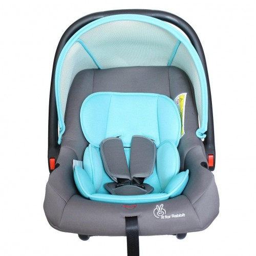 R for Rabbit's Picaboo - Infant Baby Car Seat Cum Carry Cot (Blue Grey)