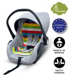 R for Rabbit's Picaboo - Infant Baby Car Seat Cum Carry Cot (Rainbow)