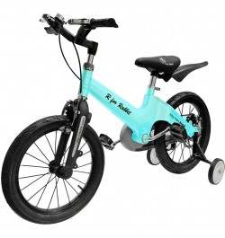 R for Rabbit Tiny Toes Rapid Cycle for Kids - Smart Plug and Play Kids Bicycle -16 inch for 4 Years to 7 Years Baby (Lake Blue)