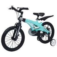 R for Rabbit Tiny Toes Jazz- The Smart Plug and Play Bicycle (16 inch/T - for 4-7 yrs) (Lake Blue)