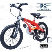 R for Rabbit Tiny Toes Jazz- The Smart Plug and Play Bicycle (16 inch/T - for 4-7 yrs) (Red Black)