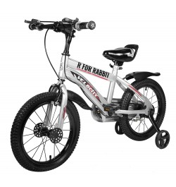 Buy R for Rabbit Velocity 16 inch Bicycle for Kids of 4 to 7 Years Age for Boys and Girls (Grey) Online in India