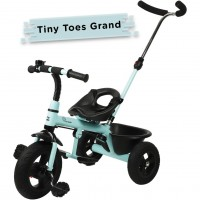 R for Rabbit Tiny Toes Grand - The Smart Plug and Play Baby Tricycle with Rubber Wheels (Lake Blue)