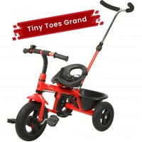 R for Rabbit Tiny Toes Grand - The Smart Plug and Play Baby Tricycle with Rubber Wheels (Red)