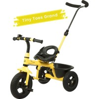 R for Rabbit Tiny Toes Grand - The Smart Plug and Play Baby Tricycle with Rubber Wheels (Yellow)