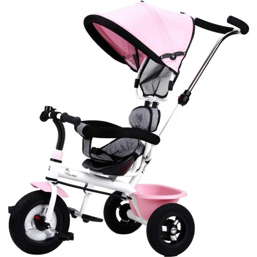 R for Rabbit Tiny Toes Sportz - The Stylish Plug N Play Tricycle For Babies (Pink Grey)