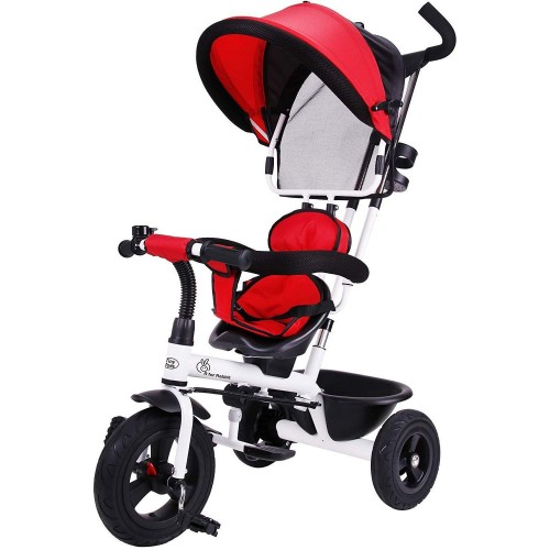 R for Rabbit Tiny Toes Striker - The Tricycle for Baby/ Kids with Striking Looks and Reversible Seat (Red)