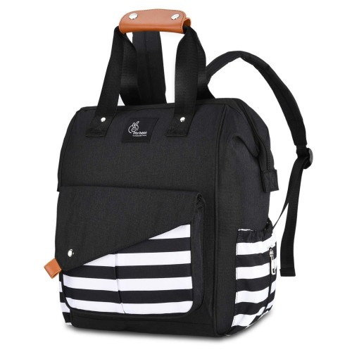 R for Rabbit Caramello Delight Diaper Bags- Smart and Fashionable Diaper Bag for Moms (Black)