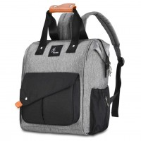 R for Rabbit Caramello Delight Diaper Bags- Smart and Fashionable Diaper Bag for Moms (Grey Black)