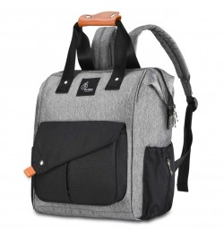 Buy R for Rabbit Caramello Delight Diaper Bags- Smart and Fashionable Diaper Bag for Moms (Grey Black) Online in India