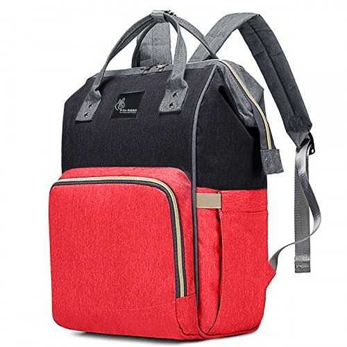 R for Rabbit Caramello Diaper Bags- The Smart and Fashionable Diaper Bag for Moms (Red Black)